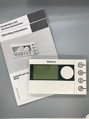 Buderus Logamatic RC35 Boiler Room Control Made In Germany Bosch Thermostat