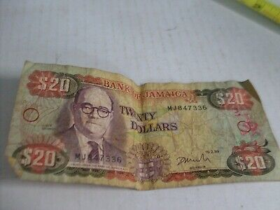 1999 Bank Of Jamaica $20 Banknote