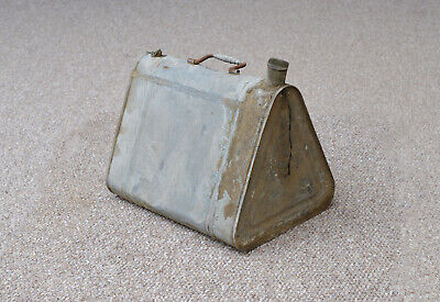 vintage petrol can old galvanised oil canister can retro can - FREE DELIVERY