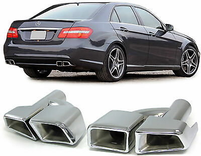 Mercedes W212 E Class Chrome Finish Exhaust Pipe Trims Tips