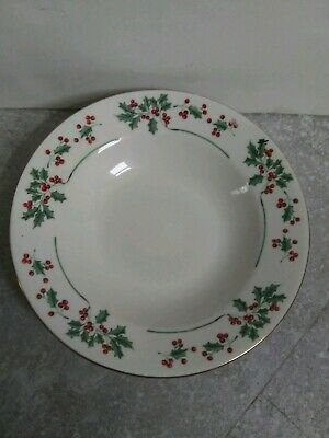 Gibson Everyday China Christmas Holly And Berry Bowl SALE Pre-Owned
