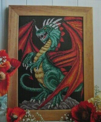 FIRE AND WATER   A DRAMATIC CHINESE DRAGON SAMPLER  CROSS STITCH CHART