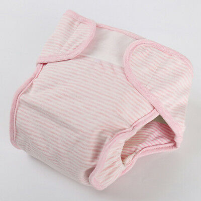 Baby Diapers Washable Reusable Nappies Grid Cotton Training Pant Cloth SL3