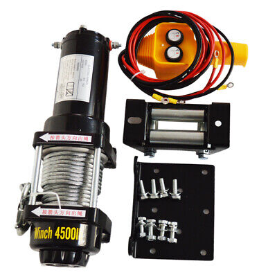 Electric Winch 3000/4500LBS 12V Synthetic Rope Winch Towing Truck