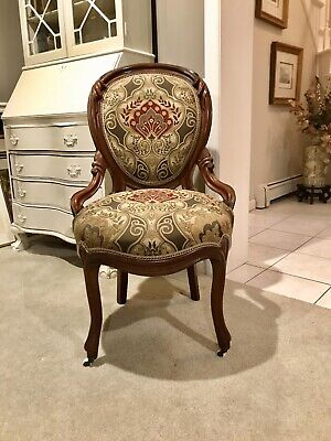 Antique Victorian Upholstered Finger Ladies  Parlor/desk Chair