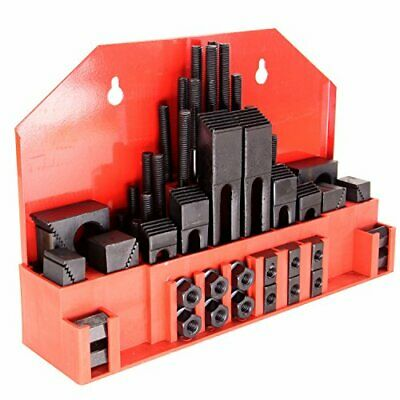 """HFS (R) 58pc 3/4"""" Slot 5/8""""-11 Stud Hold Down Clamp Clamping SET KIT"""