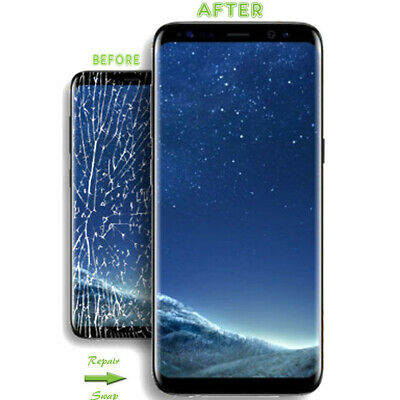 FJ- Front Outer Touch Screen Glass Lens Replacement for Samsung Galaxy S8 S8Plus