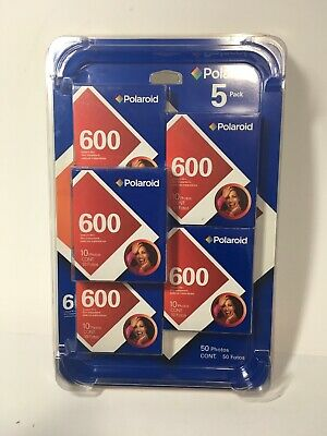 Polaroid 600 Instant Film 5 Pack Color Shield exp 09/2005 SEALED IN PLASTIC