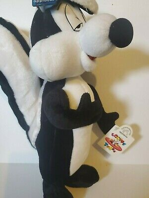 """Applause 1994 PePe Le Pew Plush 16"""" with Tags Stuffed Animal Looney Toones"""