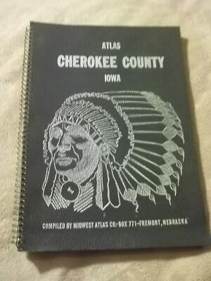 1964 Cherokee County Iowa Atlas Maps Plats Of Townships Rural Directory Farms