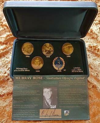 SCARCE Ltd Ed. SYDNEY 2000 OLYMPIC GAMES MURRAY ROSE PHOTOGRAPHIC PIN SET EXCEL
