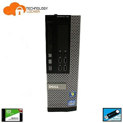 DELL Optiplex 790 SFF Desktop PC Intel i5-2400 @3.10GHz 4GB RAM 120GB SSD Win 10