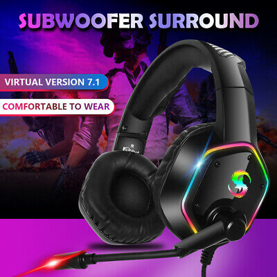 Professional LED Gaming Headset ESports Headphones W Mic for PC PS4 Xbox One XS