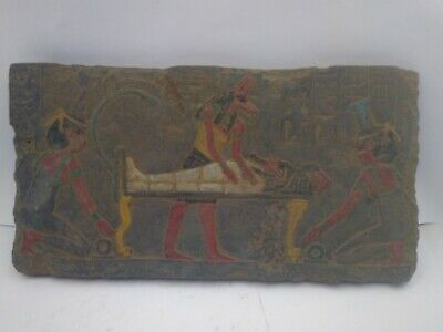RARE ANTIQUE ANCIENT EGYPTIAN Stela God Anubis Mummify King 1750-1670 Bc
