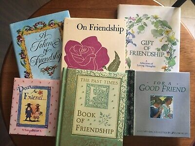 Lot of 6 small books on FRIENDSHIP.  Cute collection. Very good.