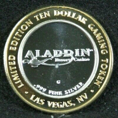 Aladdin's Las Vegas Resort and Casino Limited Edition .999 silver Token
