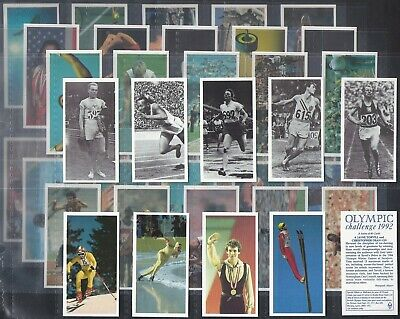 Brooke Bond-Full Set- Olympic Challenge 1992 (40 Cards) - Exc+++