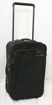 Hartmann Nylon Black Expandable Rolling Travel Bag Suitcase Luggage Carry On