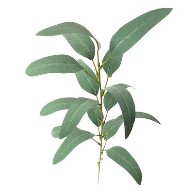 Artificial Fake Faux Silk Flower Eucalyptus Plant Green Leaves Home Decor BZ2
