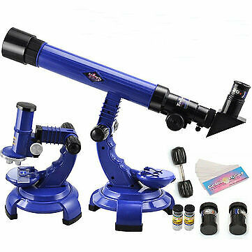 Telescope Microscope Set. Science Nature Educational Astronomy Learning Kids Toy