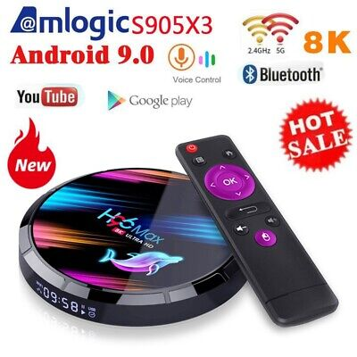 H96 Max X3 Android 9.0 Smart TV Box  Media Player Set Top Box Miracast Airplay