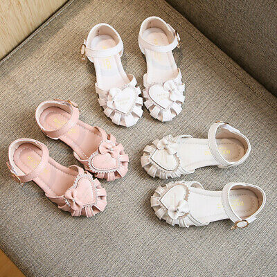 Infant Children Kid Baby Girls Solid Casual Shoes Bowknot Sandals Princess Shoes