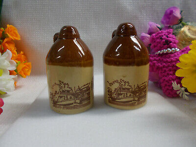 Port Of Echuca Salt And Pepper Shakers - Pevensley Paddle Boat Vgc 7 1/2 H # 415
