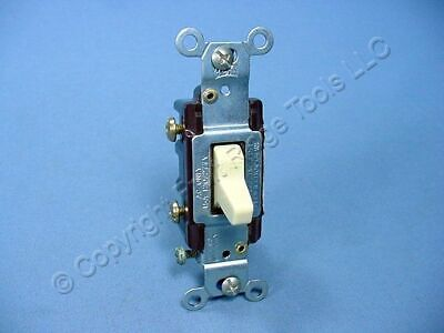 Eagle Electric Ivory COMMERCIAL DOUBLE POLE Toggle Wall Light Switch 15A CS215V