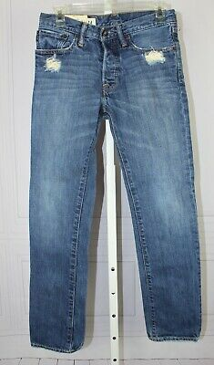 ABERCROMBIE KIDS JEANS BOYS  ROLLINS LOW RISE SKINNY BUTTON FLY Size 14