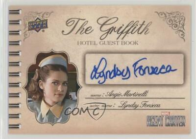 2018 Agent Carter Griffith Hotel Guest Book Autos Lyndsy Fonseca #SA-LF Auto 4et