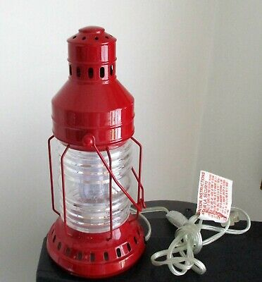 Pottery Barn Kids, Red Electric Table Lantern.  Preowned. (4696)
