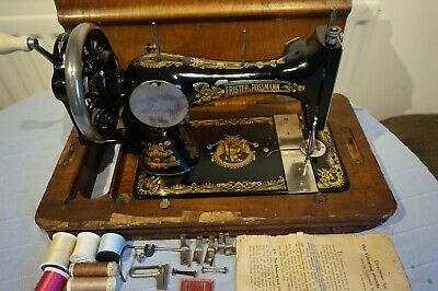 Antique Frister & Rossmann HandCrank Sewing Machine , vintage Home Decor