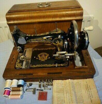 Antique Frister & Rossmann HandCrank Sewing Machine