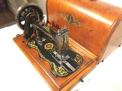 Antique 1888 Singer 12K fiddle base handcrank sewing Machine with Acanthus leave