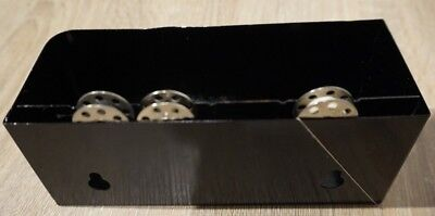 Singer featheweight sewing machine attachments case/Tin with 3 bobbins