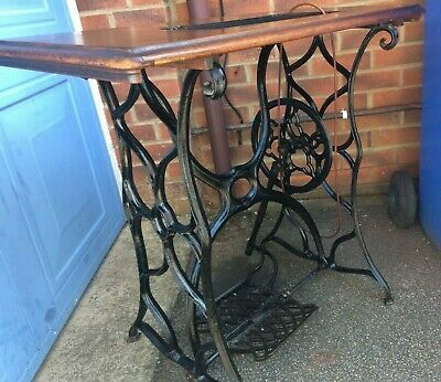 Antique Treadle Sewing Machine Cast Iron Table/Stand
