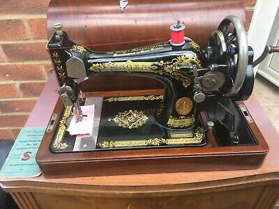 Beautiful 1927 Vintage Singer 28K Handcrank Sewing machine with INSTRUCTIONS