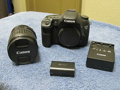 Canon 7D 18.0MP Digital SLR Camera w/ EF 28-135mm Canon Lens, Low Shutter Count