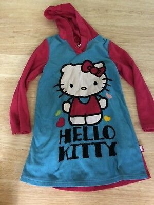 Nice Hello Kitty Fleece Hooded Robe Girls Size 8