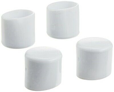 MINTCRAFT FE-50611 Plastic Leg Tip, 1/2-Inch, White Package of 4