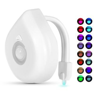 16 Colors LED Motion Sensor Toilet Light Battery Operated Bright Night Lamp