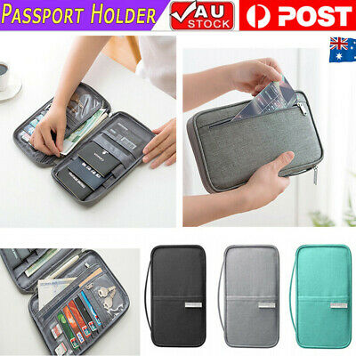 Waterproof Travel Document Passport Holder RFID Wallet Bag Family Case Organizer