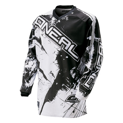 O Neal Element Shocker Motocross Jersey Schwarz MX Gelände Atv Track Quad Racing