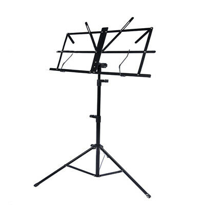 New Guitar Foldable Music Stand Holder Base Tripod Orchestral Conductor Sheet MD