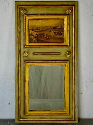 """Very small vintage French trumeau mirror 13"""" x 24¾"""""""
