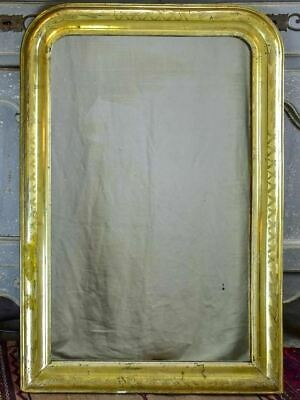 """Antique French Louis Philippe mirror with gilded frame 25¼"""" x 37"""""""