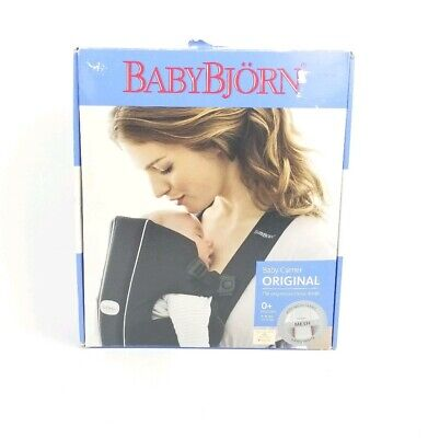 BABY BJORN White Gray Baby Carrier Air Mesh LIGHTWEIGHT Breathable 8-25 Lbs New