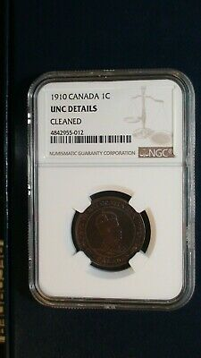 1910 Canada LARGE Cent NGC UNCIRCULATED 1C Coin PRICED TO SELL RIGHT NOW!