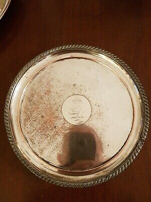 Antique Old Sheffield Plate Crested Salver T & J Creswick Sheffield c.1811