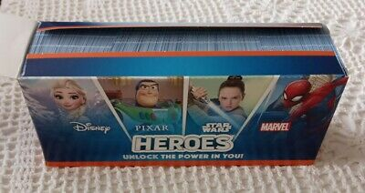 Sainsbury's Disney Heros Cards - One Full Box Of 180 Packs - 720 Cards Per Box